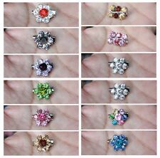 New 12 Pieces Rhinestone Brooch Pin Flower Safety Pin Hijab Accessory muslimah