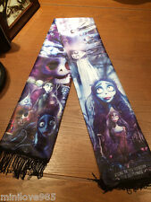 Movie Corpse Bride Johnny Depp Victor Muffler Cos Costume Shawl Tasseled Scarf