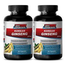 Red Ginseng Powder - Korean Ginseng 350mg - Muscle Mass Supplements 2B