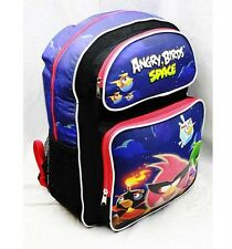 "Angry Birds Space 16"" Large Backpack School Bag (Red) Licensed by Rovio Newest"