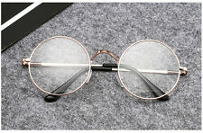Fashion Men Women Vintage Clear Lens Eyeglasses Retro Round Frame Unisex Glasses