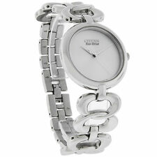 Citizen Eco-Drive Ladies Silhouette Silver Dial Dress Watch EM0220-53A