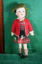 Antique Doll AM 390 in Original Scottish Costume 13 inches