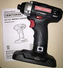 """19.2V Craftsman C3  Impact Driver 5727.1 1/4"""" New ! Uses Lithium Battery"""
