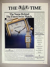 Girard-Perregaux Chronometer Watch PRINT AD - 1983 ~~ watches, wristwatch