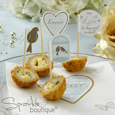 CAKE PICKS (Cupcake/Canape Sticks) - Vintage Birdcage/Wedding/Anniversary Party