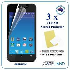 3X PREMIUM CLEAR SCREEN PROTECTOR FILM GUARD FOR MEDION E4002 (ALDI MOBILE)