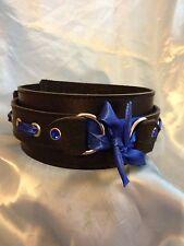 Handmade leather and ribbon Collar CO76 Bondage fetish
