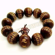 20mm Red sandalwood Mahakaruna Sutra Tibet Buddhism Bracelet
