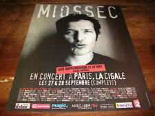 MIOSSEC - PUBLICITE CONCERT - DATE SUPPLEMENTAIRE !!!!!
