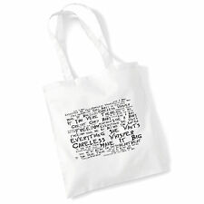 Art Studio Tote Bag WHAM! Lyrics Print Album Music Poster Gym Beach Shopper Gift