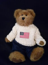 Boyds Bears Edmund Bailey and Friends Collection Patriotic American Flag Sweater