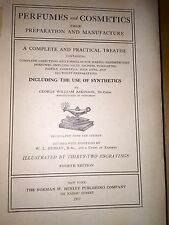 Rare Book Perfumes & Cosmetic Preparation & Manufacture 1917
