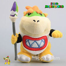 New Super Mario Bros. Standing Baby Bowser JR Koopa with Weapon Plush Toy Doll