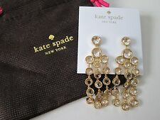 NWT Auth Kate Spade Subtle Sparkle Crystal Charm Chandelier Dangle Earrings $88