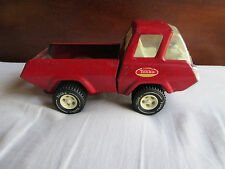 "Vintage 1970s Tonka Metal Tin Small 8.5"" inch Red Pick Up Truck Cute Collectible"