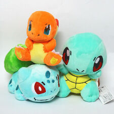 3 Pcs/Set Pokemon Bulbasaur Charmander Squirtle Stuffed Plush Toy Figure Dolls