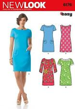 NEW LOOK Sewing Pattern  Ladies Womens Clothing Plus Shift Dress~6176 Sz 8-18