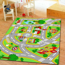 Kids' Rug With Roads Kids Rug City Street Map Children Learning Carpet Play rug