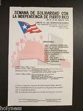 VINTAGE POSTER / PARTIDO NACIONALISTA DE PUERTO RICO / 1978