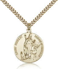 """Saint Hubert Of Liege Medal For Men - Gold Filled Necklace On 24"""" Chain - 30 ..."""