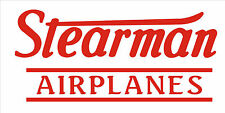 A207  Stearman Airplane banner hangar garage decor Aircraft signs