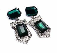 ZARA BEAUTIFUL GREEN STONES DROP DANGLE EARRINGS - NEW