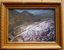 ROBYN DAPONTE, GALENA CREEK, small MIXED MEDIA MODERNISM Oil PHOTO COLORISM MOD