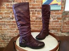 Bare Traps Sheridan Ruby Burgundy Ruched Riding Boot 9 NEW