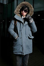Black Mens Winter Warm Thicken Hooded Trench Coat Outerwear Casual Parka NEW