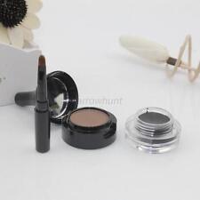 Makeup Waterproof Eyebrow Powder And Black Eyeliner Gel Set w/Brush Mirror A28