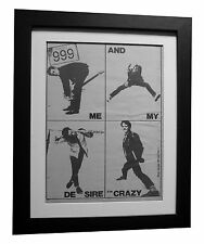 999+Me & My Desire+POSTER+AD+RARE ORIGINAL 1978+PUNK+FRAMED+EXPRESS GLOBAL SHIP