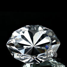 Oval Crystal Diamond Shape Paperweight Glass Display Ornament Wedding Lady Gift