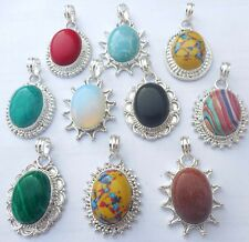 HANDMADE VINTAGE JEWELRY 10 PCS WHOLESALE LOT 925 STERLING SILVER OVERLA PENDANT