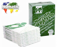 Genuine 4 x Pack Numatic Hepa-Flo Hoover Vacuum Bags Henry Hetty James NVM-1CH