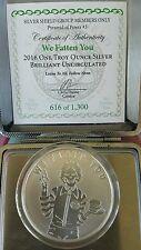 """Pyramid of Power """"We Fatten You """" 1 oz .999 silver SSG BU Rare with COA Mcdonald"""