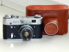 FED-3 Soviet Copy Leica Rangefinder 35 mm Camera w/s lens industar-61 EXCELLENT