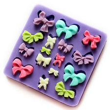 3D Bows Silicone Fondant Mould Chocolate Sugarcraft Cake Clay Mold Baking DIY