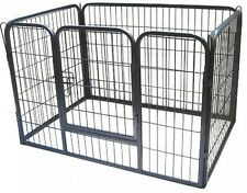 BUNNY BUSINESS Heavy Duty Puppy Play Pen/ Rabbit Enclosure, Extra Large, Grey