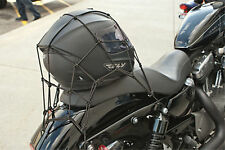 Adjustable Cargo Net Helmet Tie Down Bungee Cord For All Motorcycles Black New