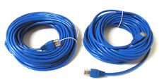 2 Pack 30' ft 30FT RJ45 CAT5 CAT5E LAN Network Cable for Ethernet Router Switch