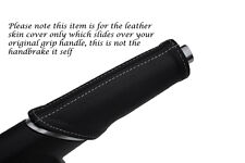 WHITE STITCHING FITS AUDI A1 LEATHER HANDBRAKE HANDLE COVER ONLY