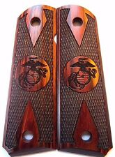 Colt 1911 Full Size Pistol Grips Rosewood with USMC