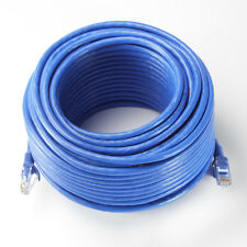 100ft Cat6 Patch Cord Cable 500mhz Ethernet Internet Network LAN RJ45 UTP Blue