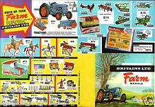 Britains 1/32 scale Farm Models Tractors Colour Facsimile of 1963 Sales Leaflet