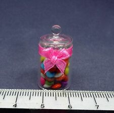 1:12th Jar Of Chocolate Beans Dolls House Miniature Sweets Shop Accessory
