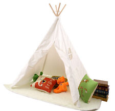 New Kids Teepee Tipi Play Tent Play House indoor/outdoor Wooden Tent
