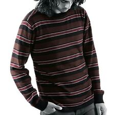 Emerica COOL BUZZ  Mens 100% Cotton Sweater  Large Black Brown Burgundy NEW