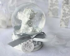 48 Angel Cherub Snow Globe Baptism Christening Holy Communion Baby Shower Favor