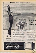 Publicité Advertising 096 1957 Continental Edison télévision